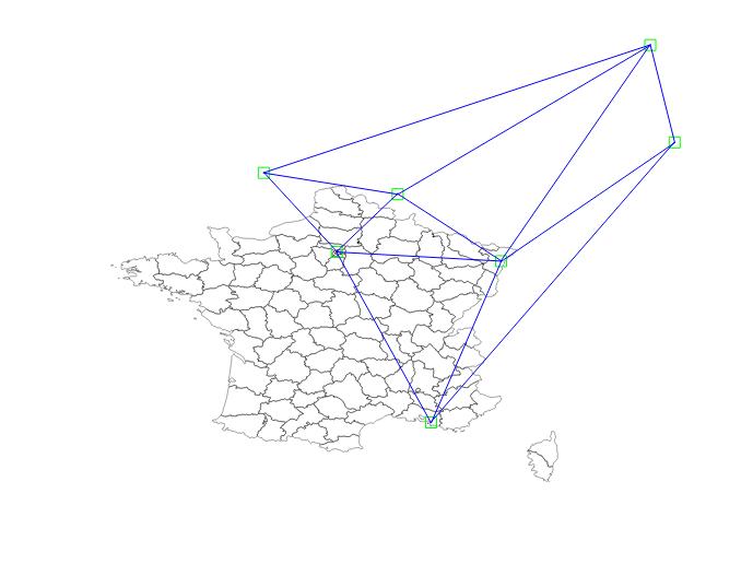 Triangulation de Delaunay entre des points